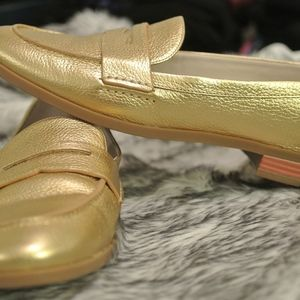 Gold Loafers Cole Haan
